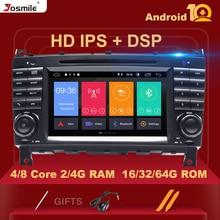 Автомагнитола 2 Din с Android 10 для Mercedes/Benz W203 W209 w222 A-Class A160 C-Class C200 CLK200GPS, DVD, стерео