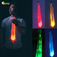 LED 7 Color Changing Tie Flashing Cosplay LED Tie Costume Anonymous Necktie Glowing DJ Bar Dance Carnival Party Masks Cool Props