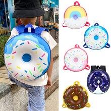 Children Backpack Boys Girls Cute Rainbow Donut School Bag Kindergarten Casual Bookbag Kids Schoolbag Mochila Infantil Bag