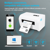 4 inch Wireless Bluetooth USB Thermal Barcode Thermal Printer Label Printer 100*150 Shipping Express Label Marker Printer