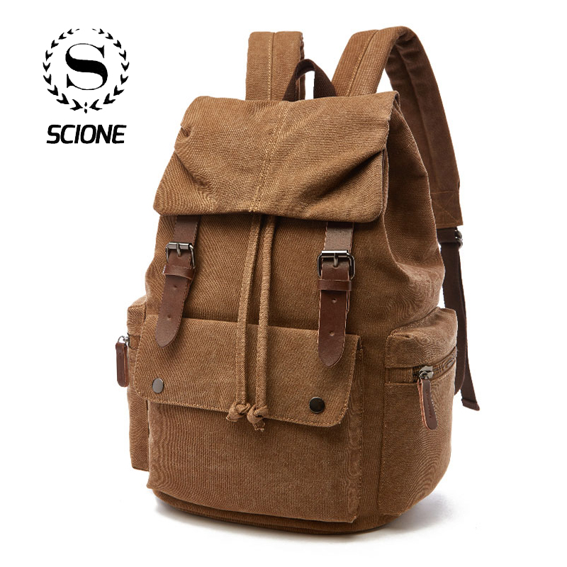 Canvas Laptop Backpack For Men Women School  Mochila Feminina  Fashion Anti-Theft Women Travel Backpacks School Backpack