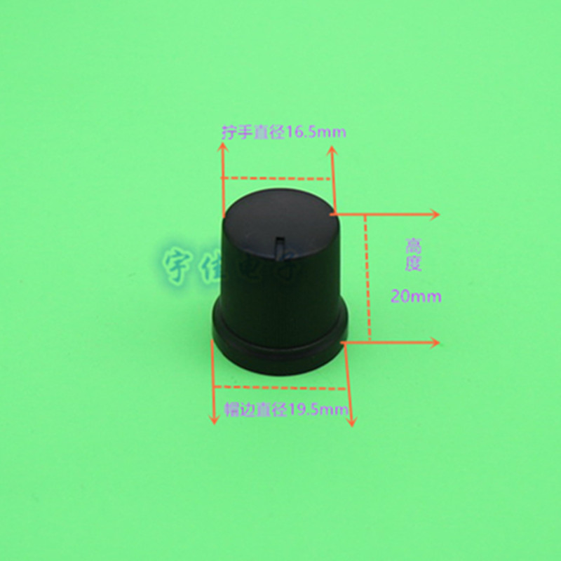 10 Piece Black Plastic Knob 19.5 * 20mm Flower Hole 6mm Potentiometer Knob Cap Audio Amplifier Adjustment Knob Cap