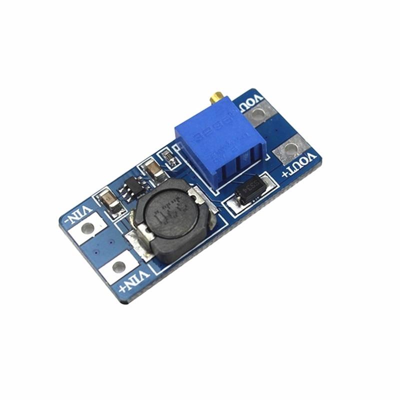 MT3608 DC DC regulowany moduł Boost 2A płytka doładowania 2A moduł podwyższający z USB 2 V 24 V do 5V 9V 12V 28V LM2577 w magazynie w Układy scalone od Części elektroniczne i zaopatrzenie na title=