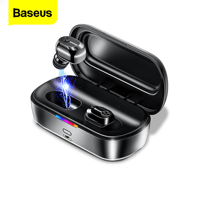Baseus W01 TWS Bluetooth 5.0 True Wireless Earphone Headphone Mini Cordless Earbuds With Mic Handsfree Headset For Xiaomi iPhone