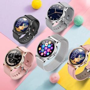 Image 5 - Женские Смарт часы IP67 водонепроницаемые часы монитор артериального давления пульсометр смарт браслет для Samsung Xiaomi Huawei CF18