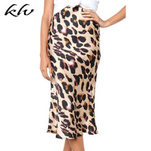 Sexy Lady Fashion Wild Leopard Print Hips Skirt Mid-length Mid-high Waist Fishtail Skirts Party Women