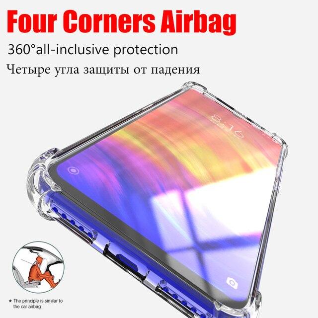 Silicone TPU Case For Xiaomi mi 9 SE A3 Lite CC9E CC9 10 9t Shockproof Cover For Redmi Note 8 8T 7 7A 6 6A 5 Plus 4X K30 K20 Pro