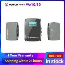 Mirfak Sistema de micrófono we10 pro, dispositivo compacto y inalámbrico de doble canal, pk comica boom x
