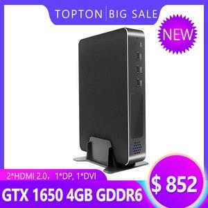 La versión de escritorio de juegos Mini PC Intel Core i7-9700 8 núcleos 8 hilos GeForce GTX 1650 GDDR6 2 * HDMI2.0 1 * DP 1 * DVI Max 4 * Muestra