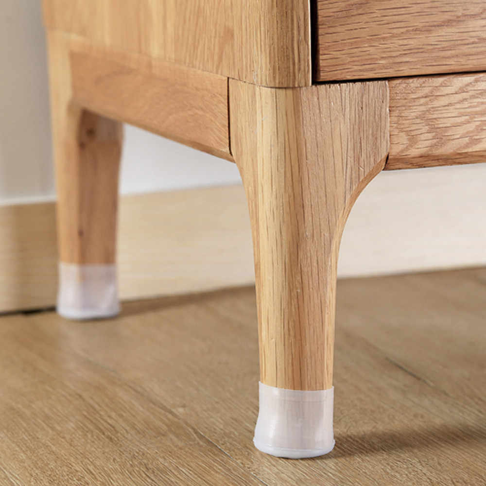 H40 4pc Chair Feet Cover Table Chair Leg Silicone Cap Pad