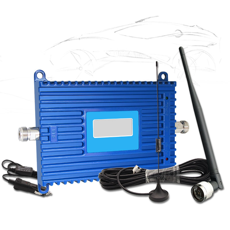 LTE Cellular Signal Booster Car Cell Phone Amplifier 4G LTE 1800MHz Band3 70dB LCD Display With Whip Antenna For Vehicle Use -