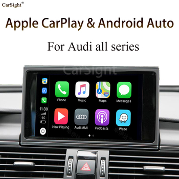 Wireless Apple Carplay Android Auto Module For Audi A3 8V 2014 Display 5.8  Original Screen Update Support Mirror-Link IOS 14 image
