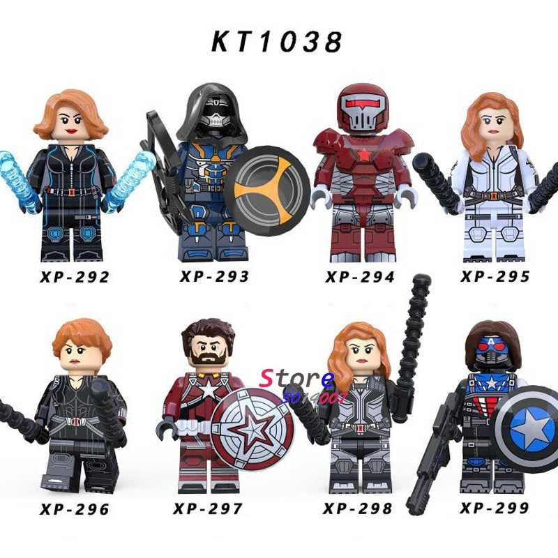เดี่ยว Avengers Endgame Black Widow Taskmaster Crimson DYNAMO Red Guardian Thor LOKI IRONMAN อาคารบล็อกของเล่นเด็ก