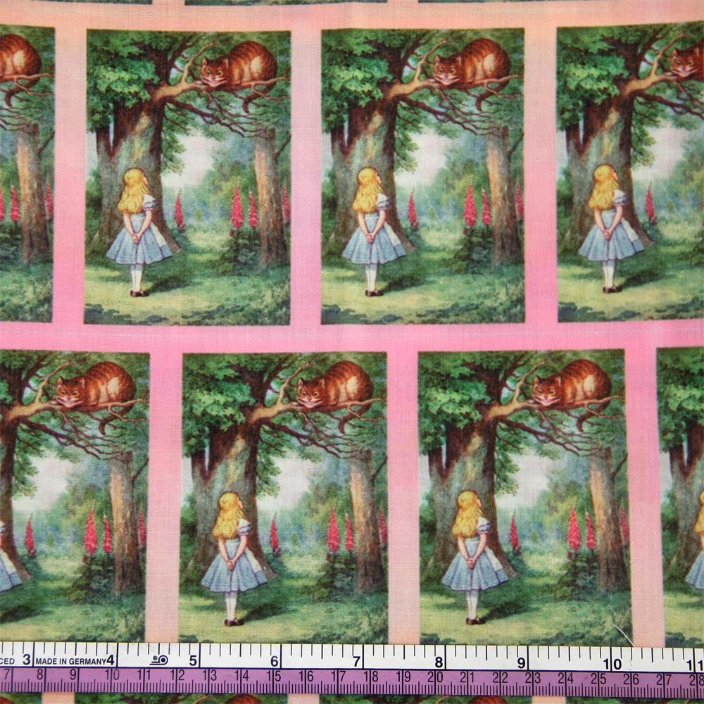 50*140 см мультфильм дизайн полиэстер хлопок ткань для ткани дети девочки платье Домашний текстиль для шитья ремесла, c2445 - Цвет: 1053547001