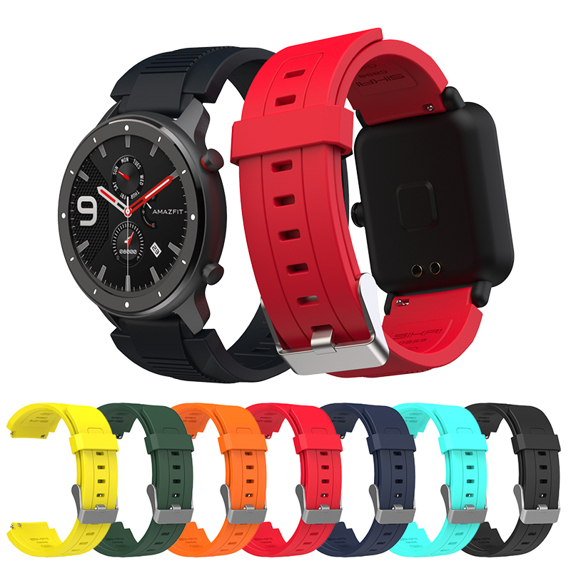 For Amazfit Bip GTR 42mm 47mm GTS Smart Watch Strap SIKAI Replace Band For Xiaomi Huami Bip Lite Midong Bracelet 20 22mm
