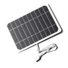 5 ואט 5 וולט פנל סולארי יעילות גבוהה מודול PV כוח גמיש פנל סולארי עם 50cm כבל עבור נייד טלפון