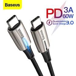 Baseus 60W rodzaj USB C kabel do kabla USB C do Samsung S10 S9 USBC PD szybkie ładowanie ładowarka USB C typu C kabel do xiaomi mi 9 8|Kable do telefonów komórkowych|Telefony komórkowe i telekomunikacja -