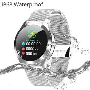 Image 5 - KW10 KW20スマート腕時計女性IP68防水腕時計心拍数モニターbluetoothスポーツフィットネスブレスレットアンドロイドios用