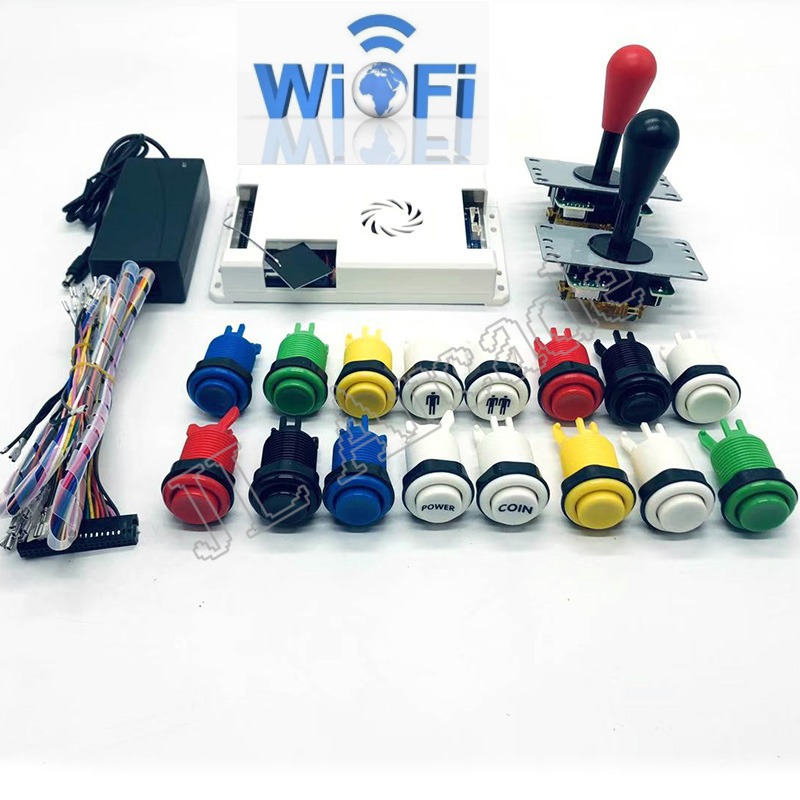 WIFI DIY Arcade Kit Pandora Game 3D 2448 In 1 Game Board + 8 Way Joystick American HAPP Style Push Button For Arcade Machine