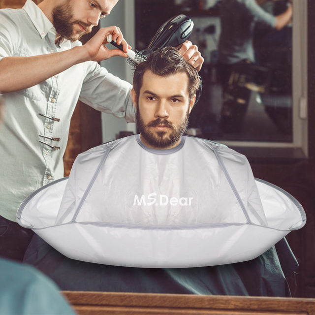 Hair Cutting Cape Umbrella Ms.Dear Hairdressing Cloak Beard Shaving Waterproof Hairdressing Kit Haircut Accessories fast ship