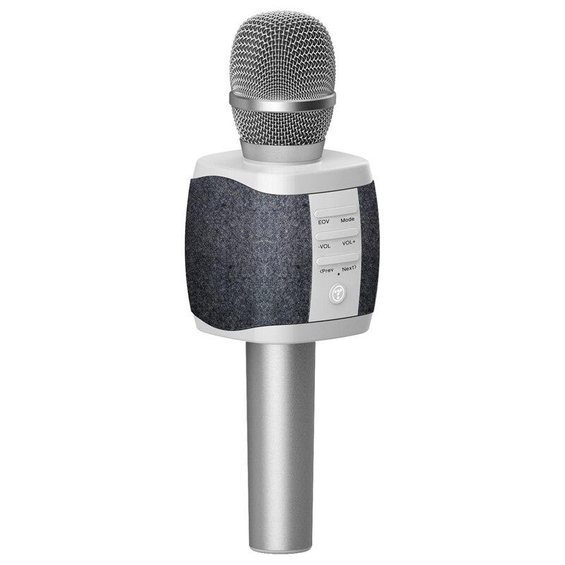 TOSING sans fil Bluetooth karaoké Microphone portable Machine à chanter haut-parleur Compatible téléphone, PC, tablette pour fête/église/Pres