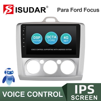ISUDAR Car Radio For Ford/Focus 2 Mk 2 2004-2008 2009-2011 No 2 din Android Autoradio Multimedia GPS DVR Camera RAM 2GB ROM 32GB image