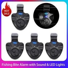 2/4pcs Electronic Fishing Bite Alarm with Sound LED Lights Indicator Fish Bite Alarms Buzzer Loud Siren Daytime Night Indicator