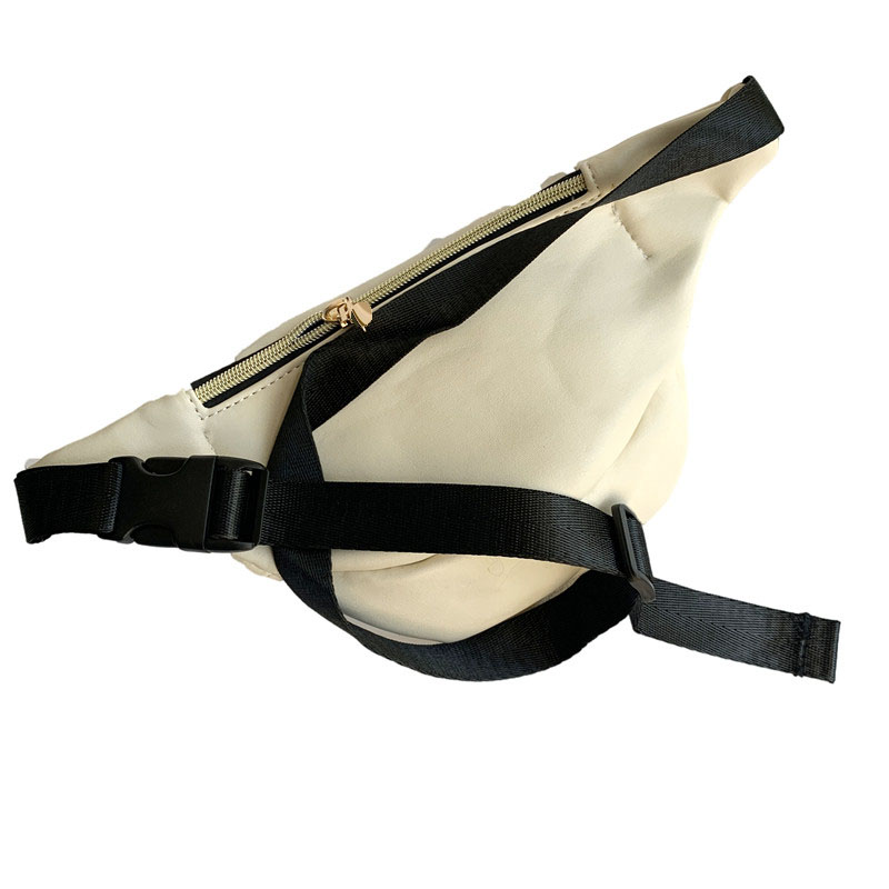 Coruja bonito pacote de cintura bolsa bege
