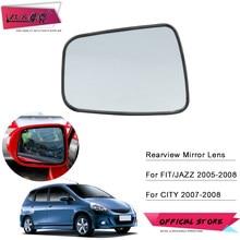 ZUK araba dikiz kapı ayna Lens için HONDA FIT JAZZ CITY GD1 GD3 GD6 GD8 2003-2008 arka görünüm yan ayna cam isıtma olmadan
