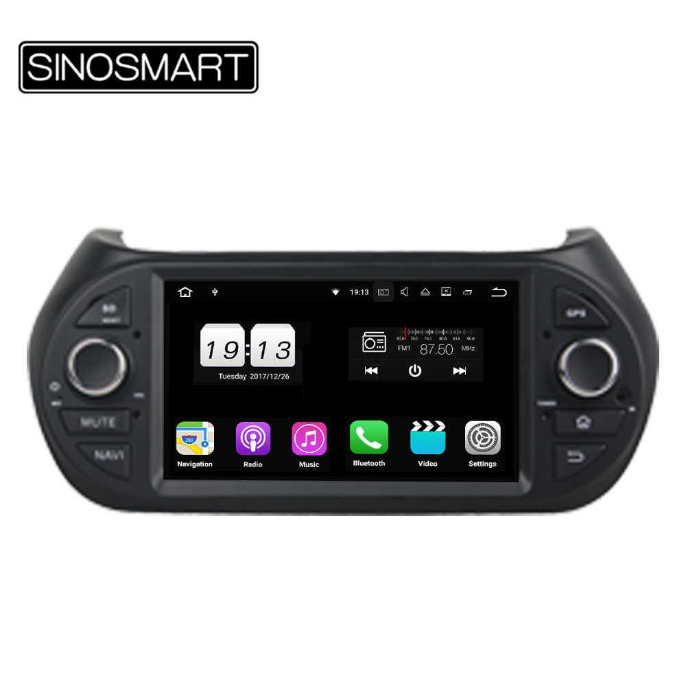 Sinosmart 2/4G Ram 4/8 Core CPU Mobil GPS Navigasi Pemain untuk Fiat Fiorino 2008-2015 dengan CANbus