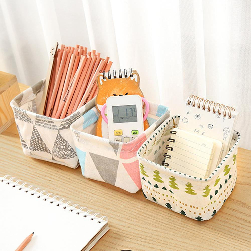 Desktop Storage Box Storage Basket Space-saving Key Cosmetics Sundries Bag Pouch Organizer For School And Home
