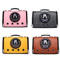Hot Pet Puppy Carrier Handbag Bubble Sightseeing Space Leather Shoulder Bag Travel Crossbody