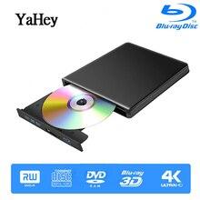 Bluray Burner Writer BD RW USB 3.0 External DVD Drive Portatil Blu ray Player CD/DVD RW Optical Drive for hp Laptops