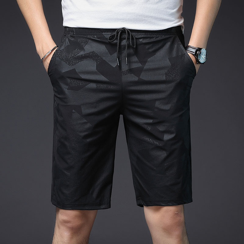 Beach Casual Shorts Mens Sport Running Men Short Pants Printed Elastic Waist Shorts Homme 2020 Summer Handsome Male Short Pants