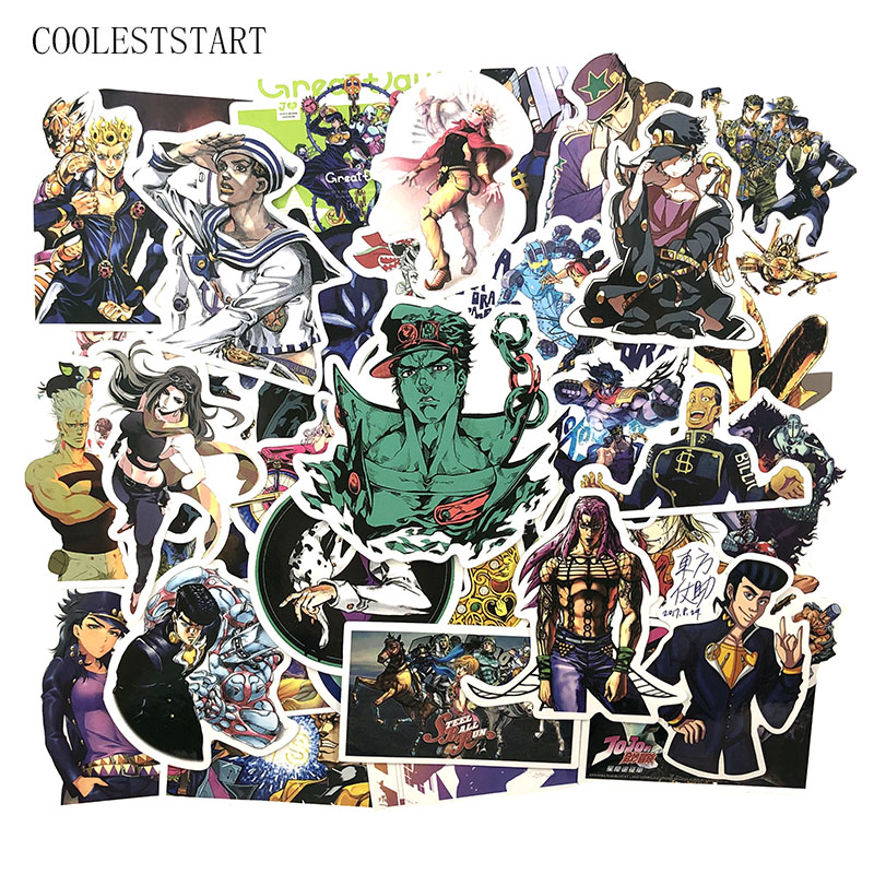 50 Pcs/set Anime Jojos Bizarre Adventure Stickers For Refrigerator Phone Skateboards Motorcycle Laptop Luggage Bicycle Stickers