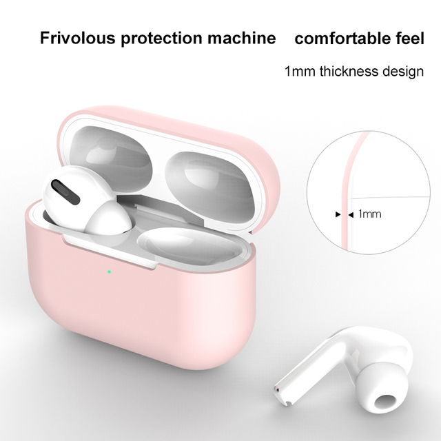 Silicone Cover Case For apple Airpods Pro Case sticker Bluetooth Case for airpod 3 For Air Pods Pro Earphone Accessories skin 4