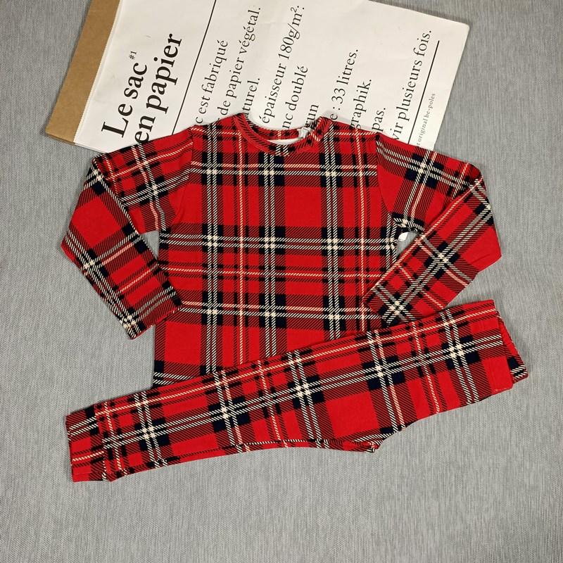 BOBOZONE PANDA DUCK PLAID Long sleeve T-SHIRT and leggings for kids boys girls autumn winter 4