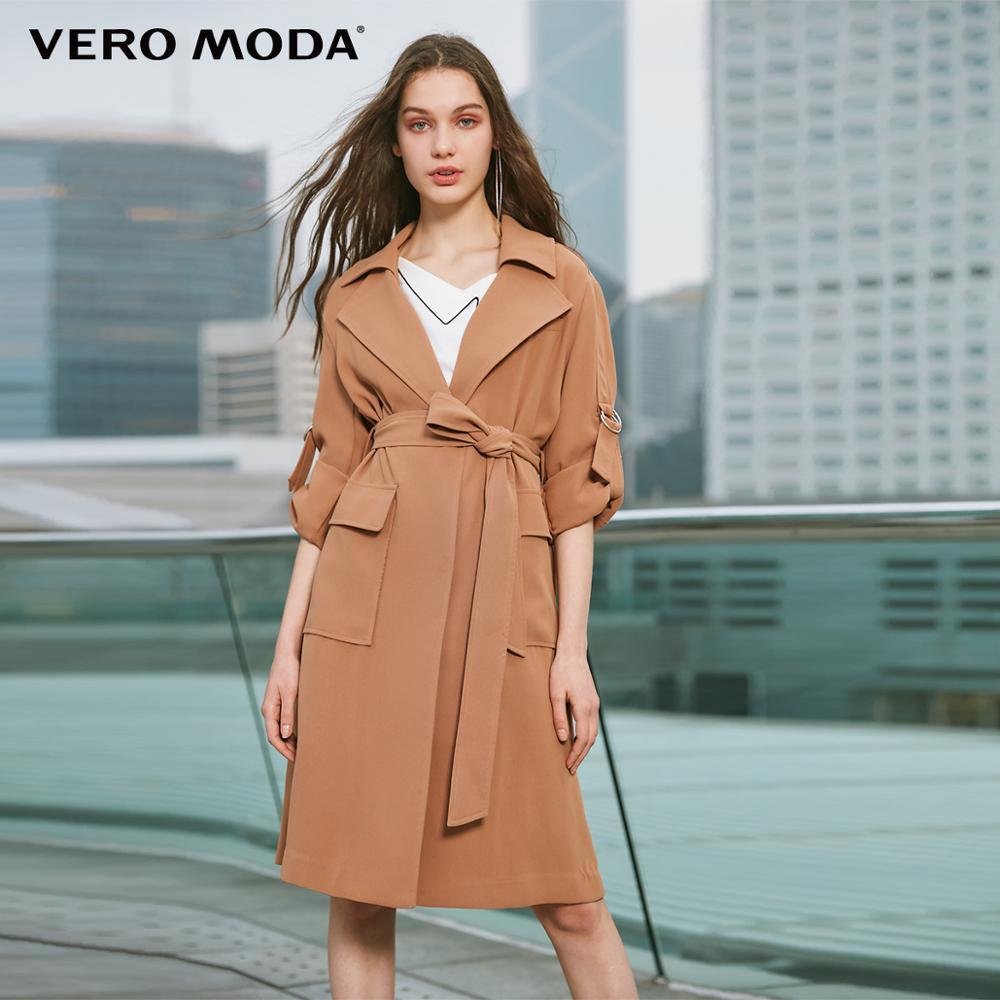 Vero Moda Women's Mid-length Decorative Shoulder Tabs Trench Coat | 319121517