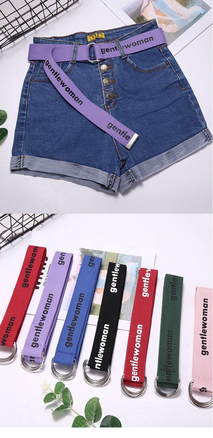 TagerWilen ремень стиль буквы напечатаны мода унисекс двойное D Кольцо холст ремень длинные джинсы ремни для женщин брезентовый мужской ремень