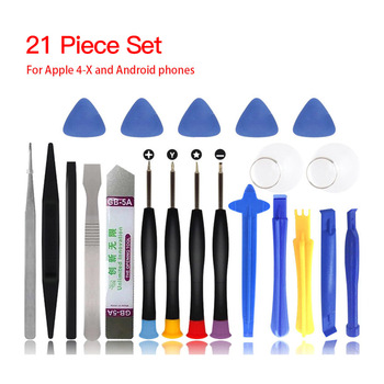 21 in 1 Mobile Phone Repair Tools Kit Spudger Pry Opening Tool Screwdriver Set for iPhone X 8 7 6S 6 Plus 11 Pro XS Hand Tools image