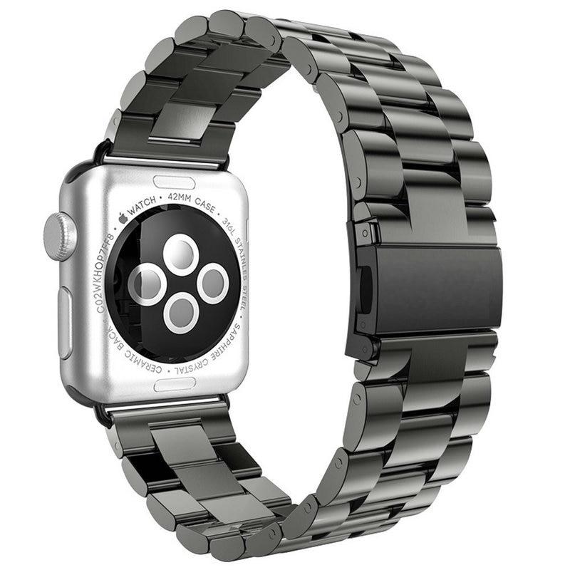 Za Apple Watch Series 5 4 3 2 trak 42 mm 40 mm 44 mm črni adapter za - Dodatki za ure - Fotografija 2