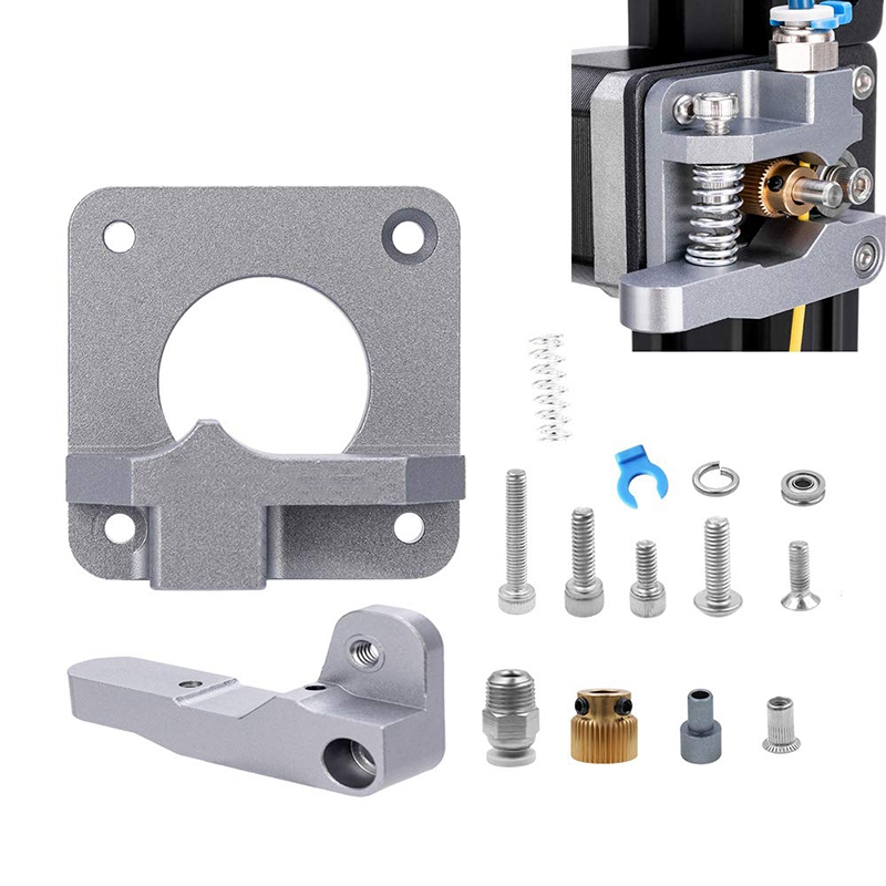 CR 20//20 Pro 3D Printer CR-10 Series CR-10S Upgraded Creality Ender 3 All Metal MK-8 Extruder Feeder Drive1.75mm Filament for Ender 3 Pro Ender 5//5 Plus//Pro Gray Aluminum Block Bowden Extruder