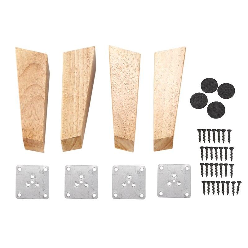 Сменная коническая деталь для дивана и дивана из 4 предметов, деревянная мебель, деревянные ножки