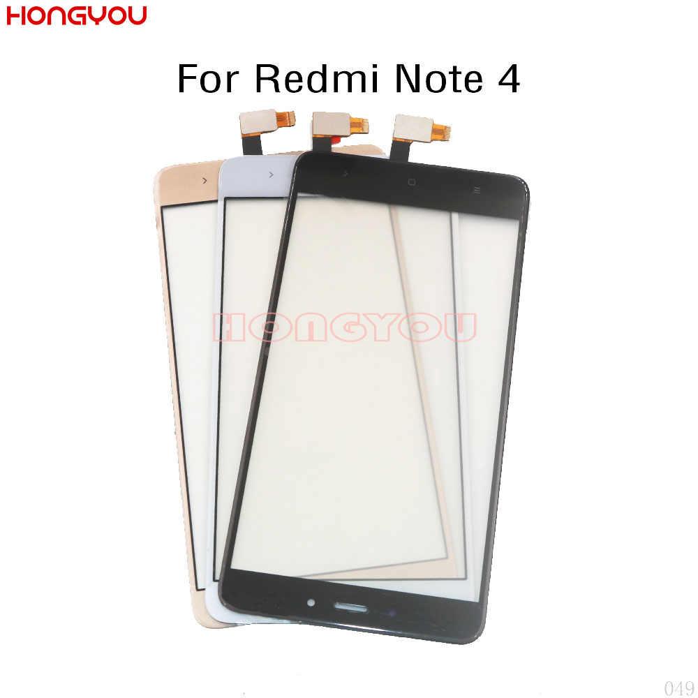 """Sensor de tela toque display lcd digitador frontal exterior vidro painel frontal 5.5 """"para xiaomi redmi nota 4/redmi note4 mtk helio x20"""