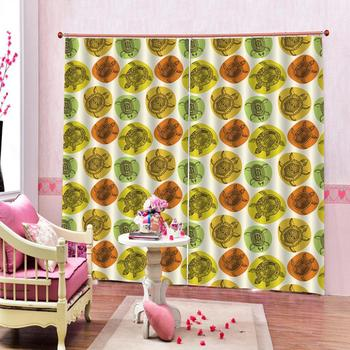 yellow curtains Luxury Blackout 3D Window Curtains For Living Room Bedroom Customized size stereoscopic curtains