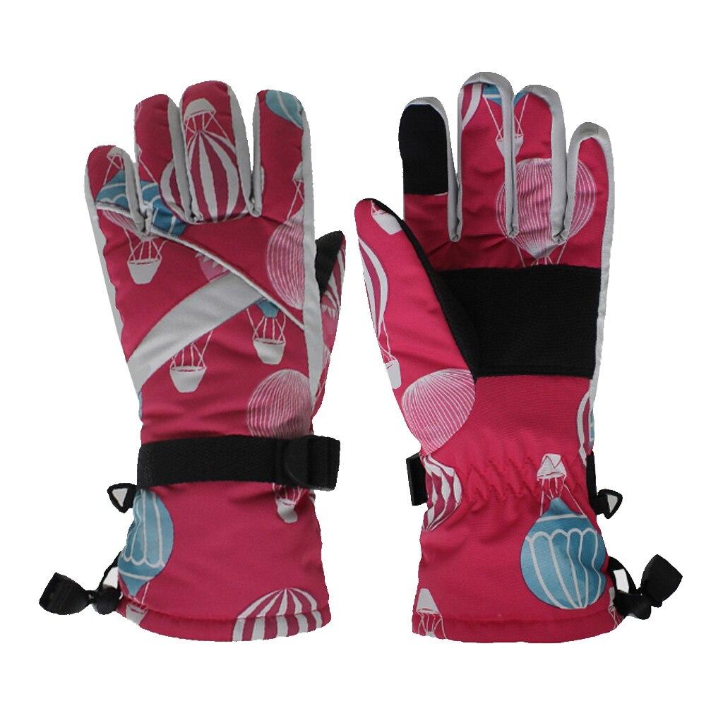 Ski Gloves,Winter Waterproof Snowboard Snow Warm Touchscreen Cold Weather Gloves Wrist Strap Mittens For Men Women Kids Gifts