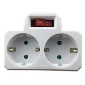 Conversion Plug Socket with Switch High Quality 16A/250V Maximum Power 3680W EU Standard Plug