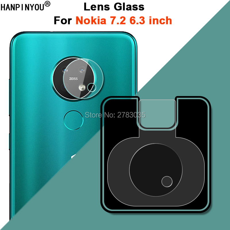 """For Nokia 7.2 6.3"""" Clear Ultra Slim Back Camera Lens Protector Rear Camera Len Cover Tempered Glass Film"""