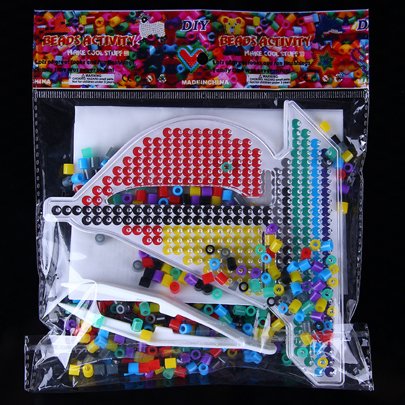 Sailboat Hama Beads Mini Sets Perler Beads 300 Beads 5mm Ironing Fuse Beads 3D Puzzle Kids Educational Toys With Accessories