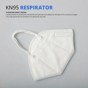 Image 3 - 10 個 KN95 防塵防曇と通気性のフェイスマスクろ過口マスク 3 層口マッフルカバー (ない医療用)